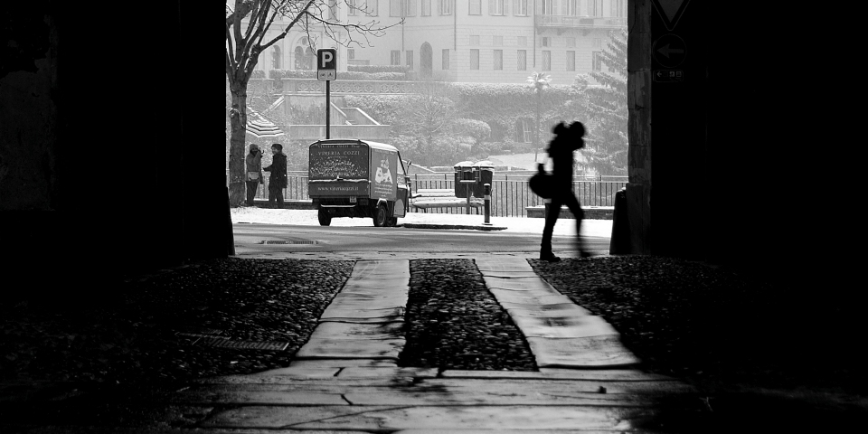 Prima neve a Bergamo del 2012