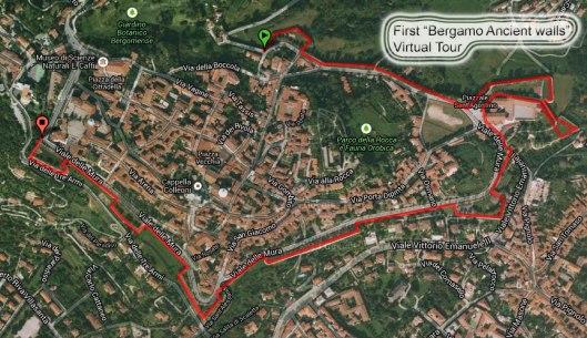 Tour Virtuale lungo el Mura di Bergamo
