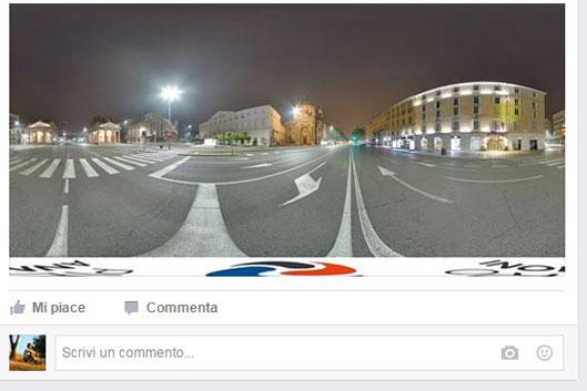 Fotografia panoramica su facebook