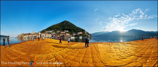 The Floating Piers - The first virtual tour of the incredible opera of the eclectic Artist Christo - Montisola, Italy