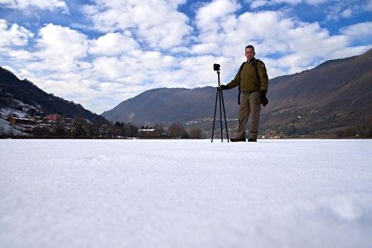 Primo tour virtuale lungo tutto il Lago di endine ghiacciato nel mese di Gennaio 2017